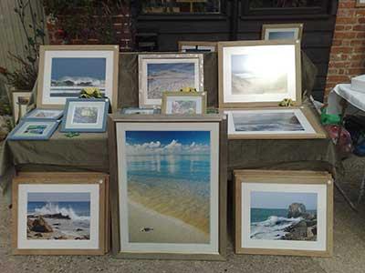 Selection of framed art