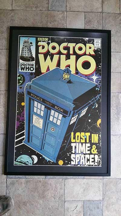 Framed TV poster