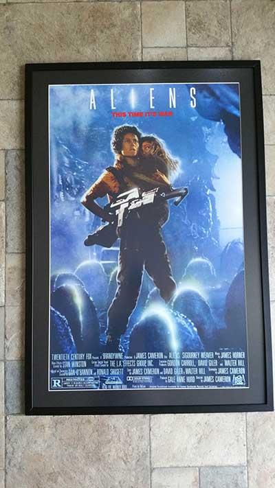 Framed film poster